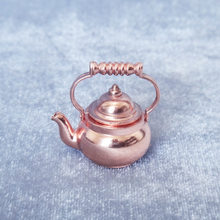 1:12 Dollhouse Mini Candy Toy Accessories Retro Copper Kettle Model Lid-Open(China)