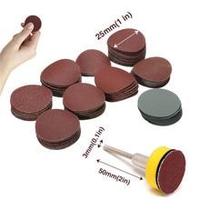 Hook Backer-Plate Sandpaper Polishing Abrasives Shank 100pcs 1/8inch Loop Mixed