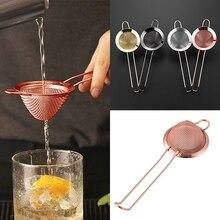 Tea Infuser Stainless Steel Mesh Tea Strainer Milk Coffee Herb Spice Filter Diffuser Handle Cone Cake Sieve Bartending Filter