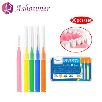 30 sztuk zestaw szczoteczka międzyzębowa nić dentystyczna szczoteczka międzyzębowa ortodontyczna szczoteczka do zębów dentystycznych wykałaczka czyste narzędzie do pielęgnacji jamy ustnej tanie i dobre opinie Ashowner CN (pochodzenie) dla dorosłych