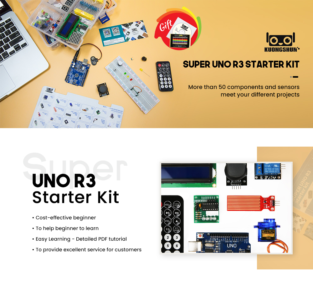 2019 najbardziej opłacalne DIY projekt startowy elektroniczny zestaw do majsterkowania z samouczkiem kompatybilny z Arduino IDE UNO R3 CH340 1