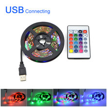 5V Usb Led Verlichting Tv Backlight Led Strip Tape Voor Kamer Decoratie Verlichting 2835 Pc Achtergrond Licht 0.5/1/2/3/4/5M Night Decor(China)