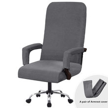 Chair-Covers Computer-Seat Stretch Spandex Office with Removable Anti-Dirty Solid-Color
