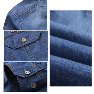 Image 5 - Envmenst marca roupas denim camisas dos homens casual manga longa topos moda magro calça jeans mmale blusas 4xl eua estilo europeu