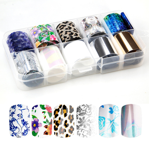 Image 2 - 41 Types Charm Nail Foils Polish Stickers Metal Color Starry Paper Transfer Foil Wraps Adhesive Decals Nail Art Decorations