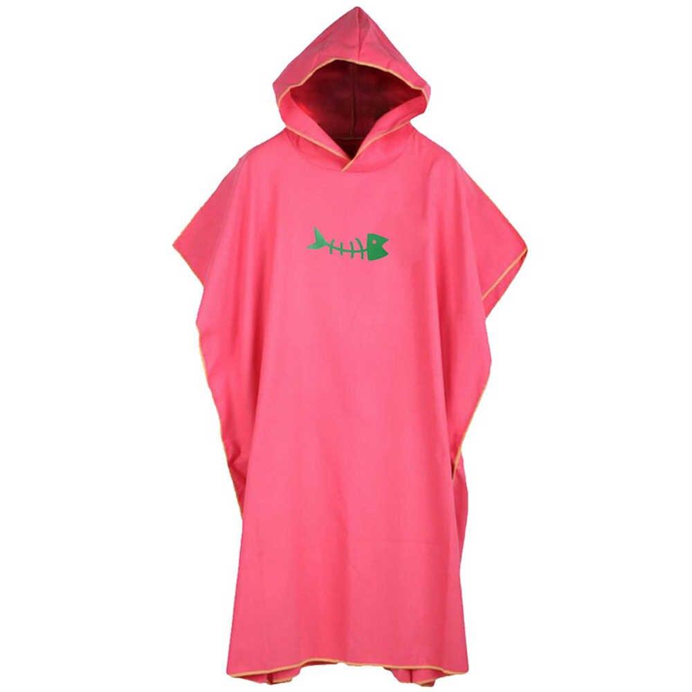 OEAK Muta Cambia Asciugamano Accappatoio Poncho con Cappuccio Multi-colore ad asciugatura rapida accappatoi nuoto mantello mantello cambiare accappatoi
