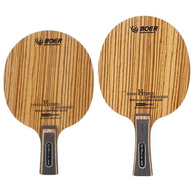 Table Tennis Racket Bottom Handle (Pen-Hold Grip) Lightweight Durable Ping Pong Racket Blade Table Tennis Accessories 3