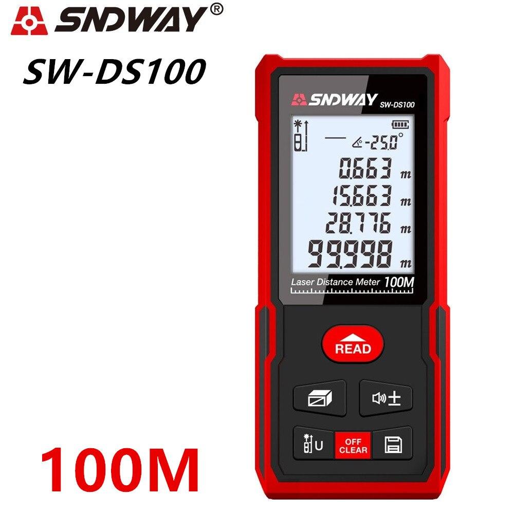 SNDWAY Laser-entfernungsmesser Abstand Meter Digital Range Finder 120m 100m 70m 50m Ultraschall-entfernungsmesser Elektronische Winkel band Herrscher