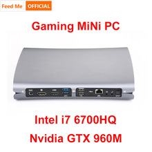 Mini PC Intel Core i7 6700HQ 4GB Nvida GTX 960M Dedicated Card 8GB 16 GB 32GB RAM PCIE SSD Gaming PC with HDMI DP 5G Wifi Type C