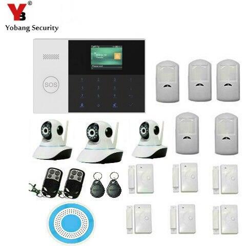Yobang Security WIFI Apps Control Sensors kits 24-hour Zone GSM Burglar Alarm Camera Siren Speaker Alarmas De Seguridad Para