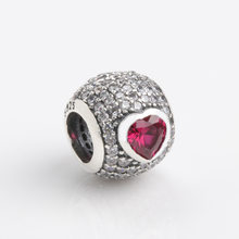 Authentic 925 Sterling Silver Beads New Creative And Charming Heart Beads Fit Original Pandora Bracelet For Women Diy Jewelry(China)