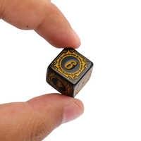 Dados acrílicos D6 con diseño tallado, accesorios de 6 lados, poliedro, dados DND coloridos, dados de juego Digital, 10 Uds.