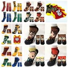Bonito dos desenhos animados escola meias curtas bonito moda tornozelo casual colorido meias apertadas cosplay casal presente