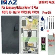 """إيماز الأصلي 6.8 """"شاشات LCD لسامسونج غالاكسي نوت 10 + نوت 10 زائد N975U شاشة الكريستال السائل مجموعة المحولات الرقمية لشاشة تعمل بلمس ل N975F LCD"""