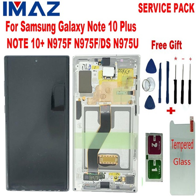 "IMAZ Original 6.8"" LCD For Samsung Galaxy Note 10+ Note 10 Plus N975U LCD Display Touch Screen Digitizer Assembly For N975F LCD"
