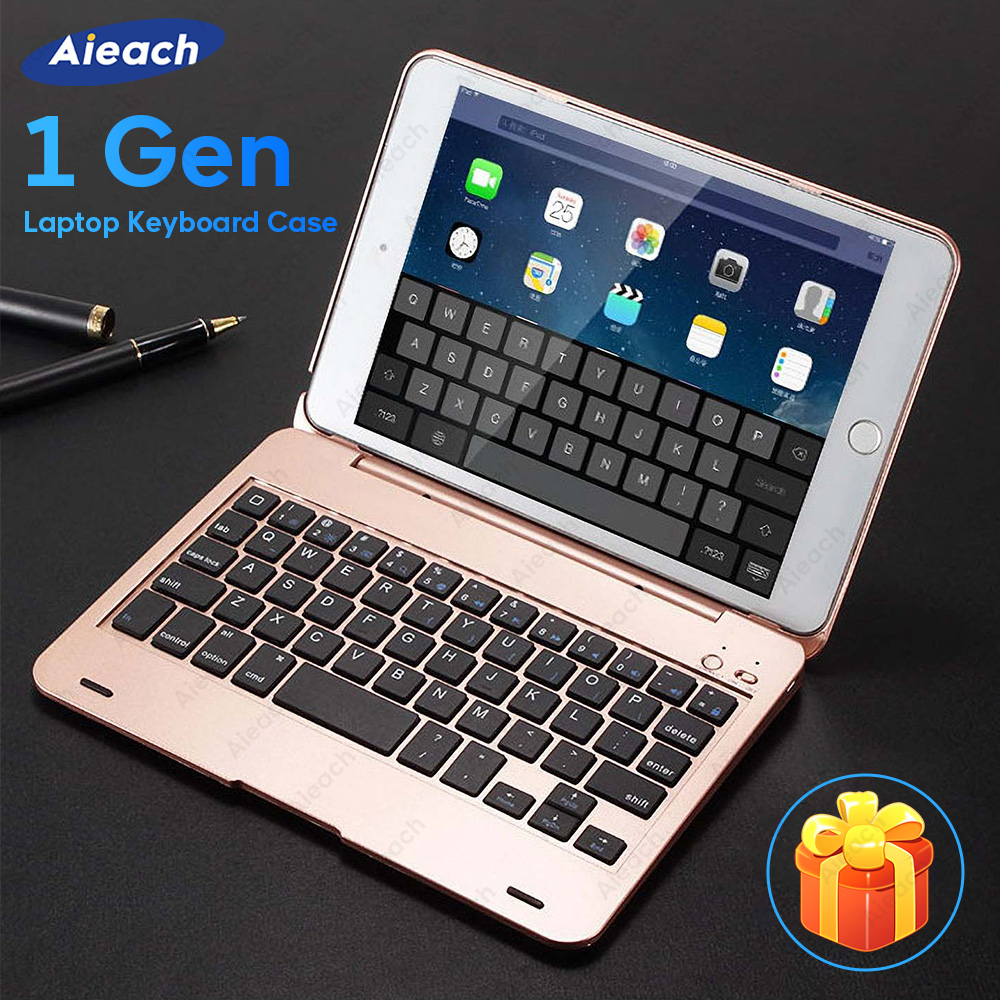 Aieach Flip Keyboard Case For IPad 2017 5th 2018 6th Air 2 1 Pro 9.7 Case Bluetooth Keyboard Cover For IPad Mini 4 5 1 2 3 Case