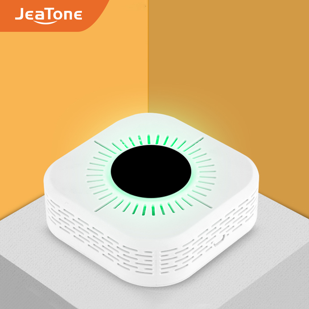 JeaTone Wireless 433MHz Smoke/Carbon Monoxide Alarm Detector Independent Sensor 360 Degrees Home Alarm For Garden/Home Security
