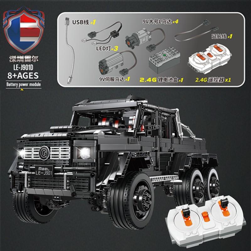 LE-J901 3300 pièces Technic voiture série Compatible MOC 2425 G63AMG 6X6 LAND CRUISER Set modèle blocs de construction briques enfants voitures jouets