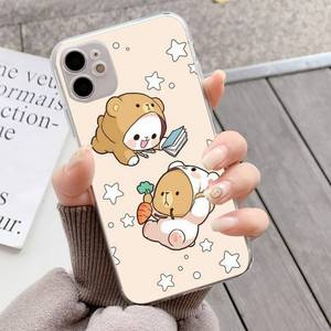 Image 4 - YNDFCNB Milk Mocha bear Phone Case for iPhone 11 12 pro XS MAX 8 7 6 6S Plus X 5S SE 2020 XR fundas