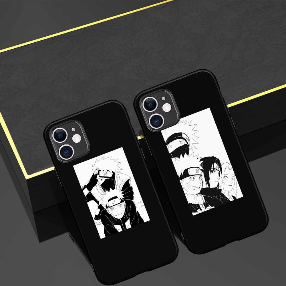 Naruto Anime Uchiha Sasuke Kakashi Phone case for iPhone 5 5S SE 6 6S 7 8 Plus X XS Max XR 11 Pro Max One Plus 5T 6T 7T 8 Pro