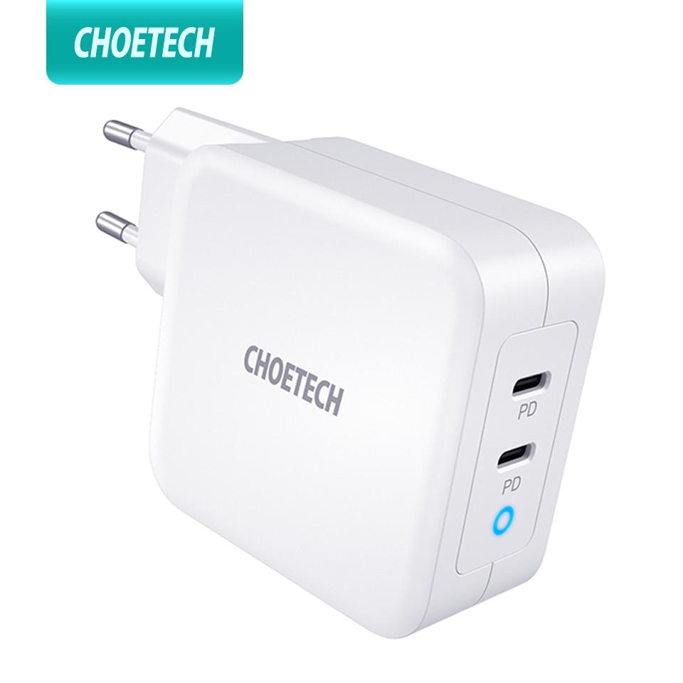 CHOETECH Type-C-Charger Lenovo iPad Macbook Huawei Dual-Usb 100w Gan iPhone 11 ASUS Samsung