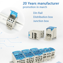 Connector Junction-Box Rail-Terminal-Blocks Electric-Wire Universal UKK Din One Several-Out