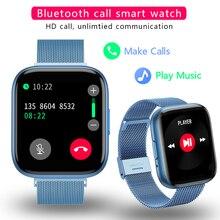 Montre connectée pour les hommes et les femmes, Bluetooth, podomètre, moniteur dactivité physique et de fréquence cardiaque, prise en charge des téléphones