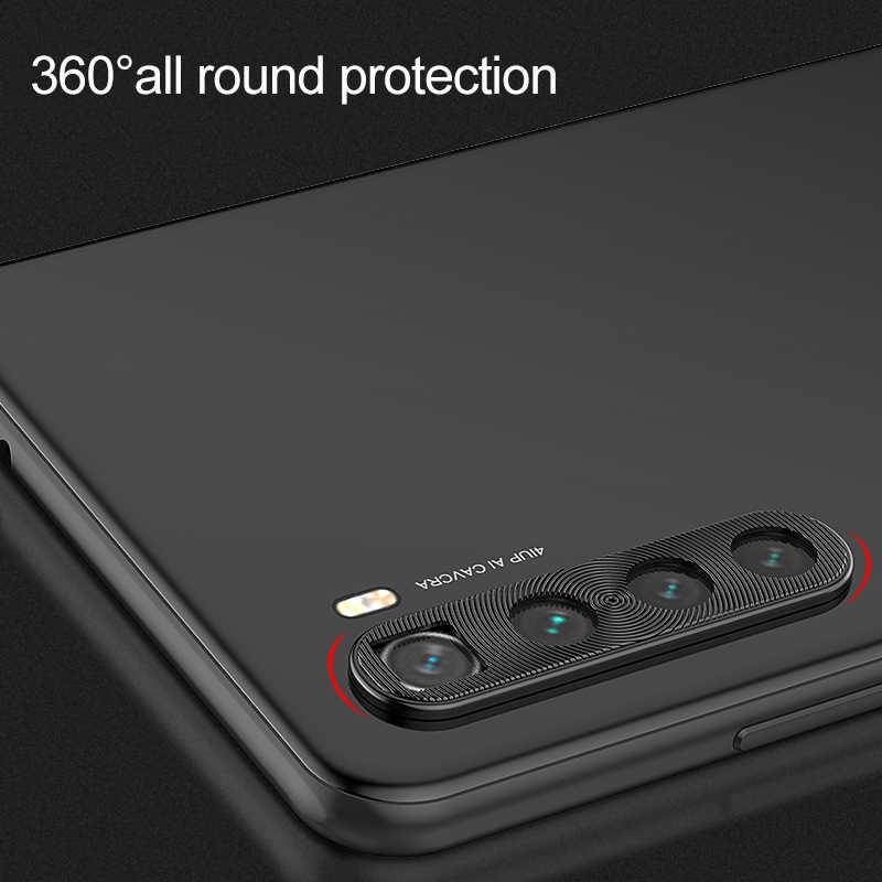 كاميرا واقية حلقة جراب هاتف شاومي Redmi نوت 8 حافظة معدنية حقيقية الهاتف غطاء للعدسات ل Xiomi Redmi نوت 8 برو 8Pro 8T