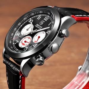 Image 2 - BENYAR Luxury Brand Men Analog Digital Leather Sports Watches Mens Army Military Watch Man Quartz Clock Relogio Masculino