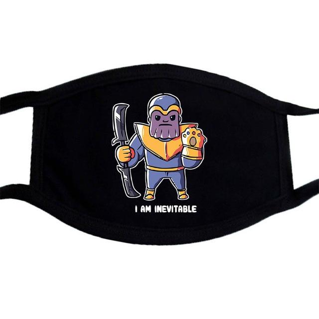 Iron Man Superhero Iron Man Tony Stark Mask Anime Cartoon Cute Anti-Dust Masks Black  Mouth Face Mask Kpop Mouth Muffle Mask 2