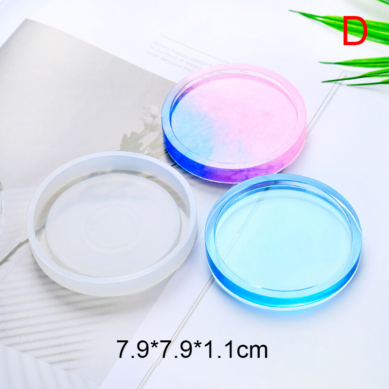Coaster Resin Silicone Cup Mat Pad Mold Jewelry Making Epoxy Mould Tool Craft