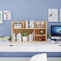Custom solid wood table shelf student with simple small bookshelf storage rack multi layer bookcase desktop desk bay window rack
