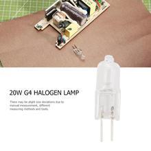 1 шт. G4 лампы 12V 360 луч Тип JC G4 галогенные лампы с регулируемой яркостью 20 Вт очистить каждый шарик с внутренней коробке RA100 с регулируемой яркостью