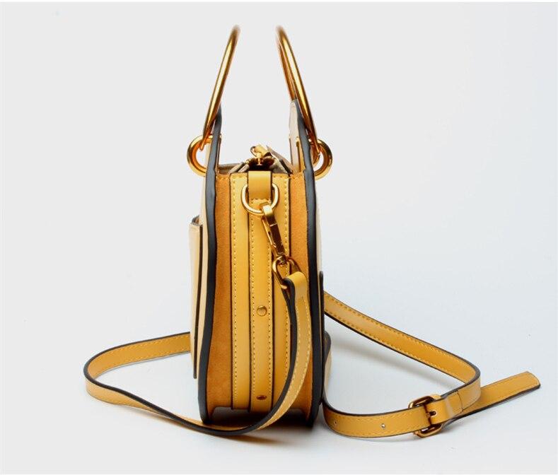 Роскошные дизайнерские женские сумки из натуральной кожи, металлическая маленькая круглая сумка, женские сумочки, клатч, женская сумка через плечо - 5
