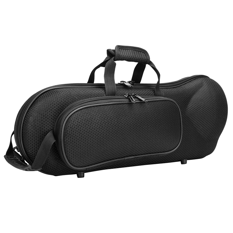 Quality Trumpet Gig Bag Water-Resistant Oxford Cloth Soft Carrying Case Hard Foam Cotton Padded With Adjustable Shoulder Strap B