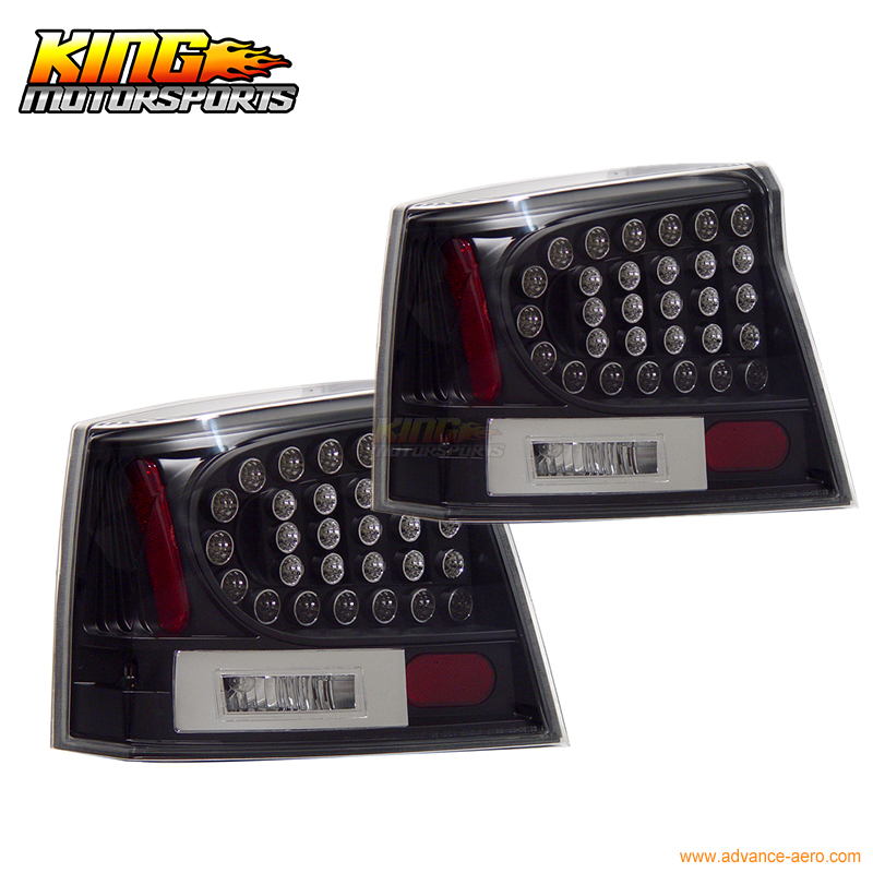 Fit For 2005-2008 Dodge Charger LED Tail Lights Black Lamps Pairs USA Domestic Free Shipping title=