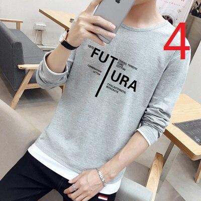 Che Basa La Camicia a Maniche Lunghe da Uomo Autunno E L'inverno Più Velluto Strisce di Tendenza Sottile Coreano T Shirt in Cotone - 4