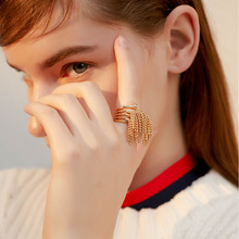 2019 fashion multilayered chain tassel ring for women index finger ring