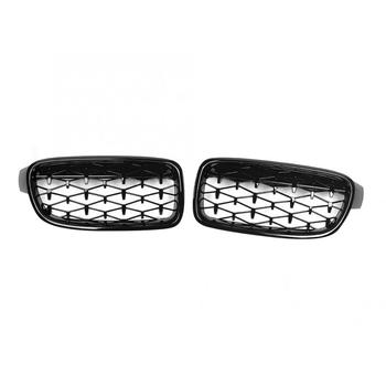Pair Glossy Black Front Hood Intake Kidney Grill 51130054493 Fits for 3 Series F30 2013 2014 2015 2016 2017 2018 Car Accessories