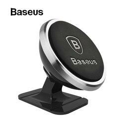 Baseus Универсальный Автомобильный держатель для телефона 360 градусов gps магнитный держатель для мобильного телефона для iPhone X 8 samsung держатель ...