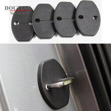 For VW Tiguan Mk2 2017 2018 2019 2020 Car Accessories Plastic Rubber Car Door Lock Buckle Protection Protective Cover Trim 4Pcs