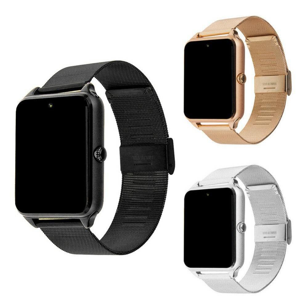 Montre intelligente GT08 Z60 horloge en métal Bluetooth Smartwatch Fitness Bracelet Support carte SIM montre-Bracelet pour téléphone Android PK DZ09