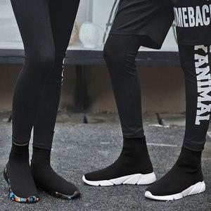 Image 5 - MWY Mode Casual Schuhe Frau Komfortable Atmungsaktive Mesh Weiche Sohle Weibliche Plattform Turnschuhe Frauen Chaussure Femme korb femme