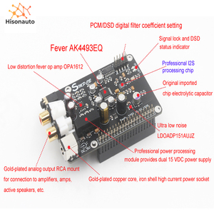 Image 1 - AK4493 AK4493EQ DAC Decoder Board Digital Broadcast Network Player I2S 32BIT 384KHZ DSD128 For Raspberry Pi 2B 3B 3B+ DAC
