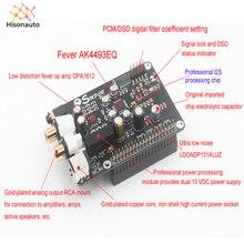 Placa de decodificador AK4493 AK4493EQ, DAC, reproductor de red de transmisión Digital, I2S, 32BIT, 384KHZ, DSD128 para Raspberry Pi 2B 3B + DAC