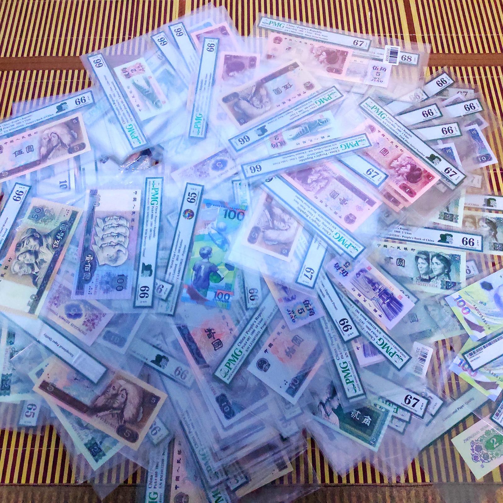Decoración de colecciones de dinero en papel Real de China, 4. ª edición, papel descatalogado, certificación internacional PMG