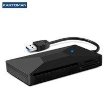 KARTOMAN USB 3.0 HUB czytnik kart inteligentnych micro SD/TF pamięć ID Bank EMV elektroniczny DNIE dni citizen sim cloner adapter złącza