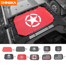 SHINEKA 2 Doors Sunshade Front Roof Mesh Bikini Top Roof Mesh Sun UV Protector Car Cover For Jeep Wrangler 2007 2017 Accessories