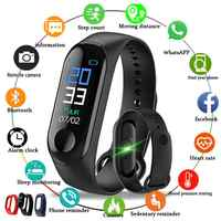 M3 Waterproof Sport Wristband Band Fitness Tracker Heart Rate Blood Pressure Messages Reminder Color Screen Smart Bracelet Band