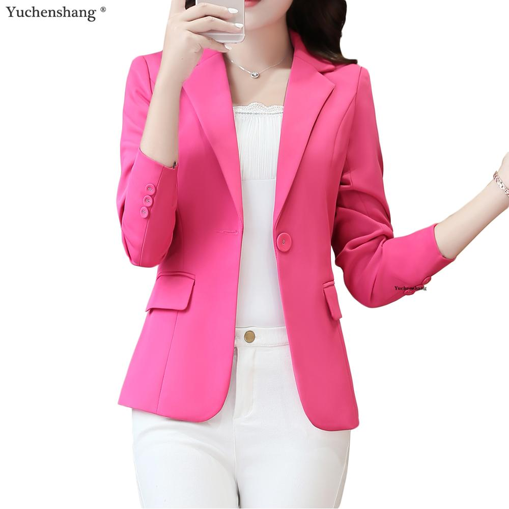 New Plus Size 4XL Women Coats Blazer Jackets Spring Summer Long Sleeve Girl Green Pink Dark Blue Jackets Office Blazer